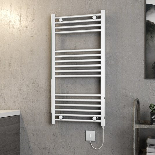 Electric Chrome Towel Rail 500 x 1000mm Straight/Curved