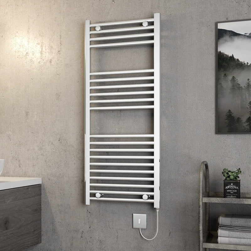 Electric Chrome Towel Rail 500 x 1200mm Straight/Curved