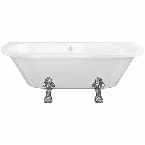 Finchley 1680mm Traditional Roll Top Freestanding Back-To-Wall Bath