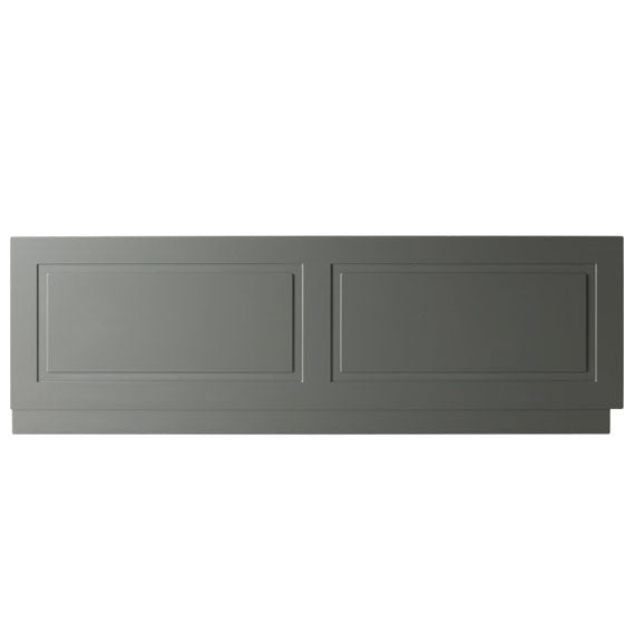 Kartell Astley Bath Front Panels 1700mm and 1800mm, Wood - Matt Grey