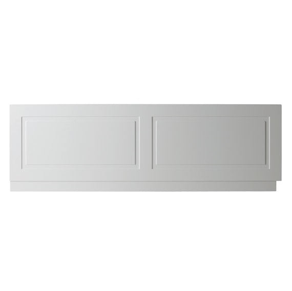 Kartell Astley Bath Front Panels 1700mm and 1800mm, Wood - Matt White