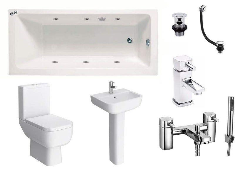 Series 600 Whirlpool 1700mm Bath Complete Suite Package