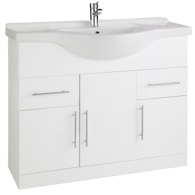 Encore 1050mm Vanity Unit And Basin White Gloss