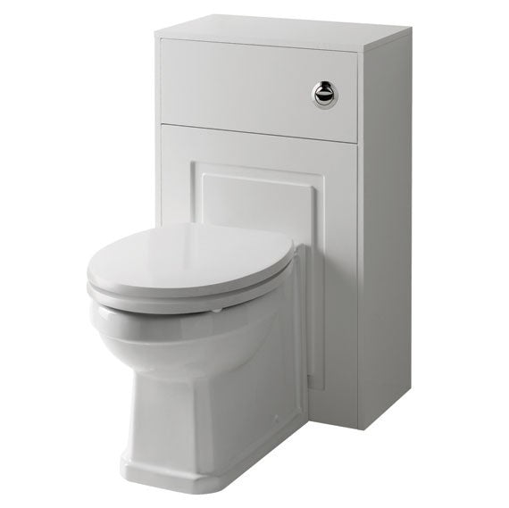 Kartell Astley 500mm WC Unit with BTW WC Pan and Soft Close Seat - Matt White