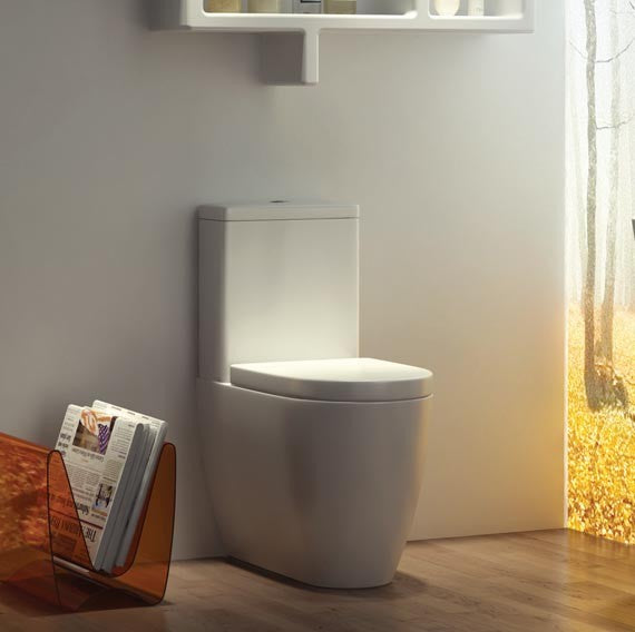 K-Vit Genoa Close-To-Wall Close Coupled Toilet with Soft Close Seat