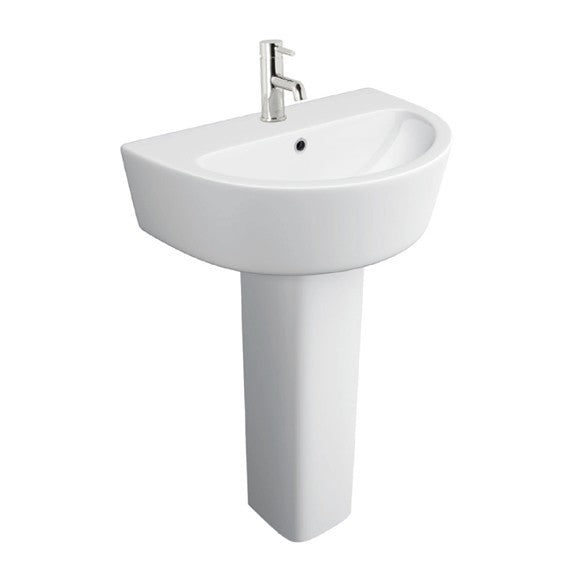 Genoa 550mm Basin and Full Pedestal