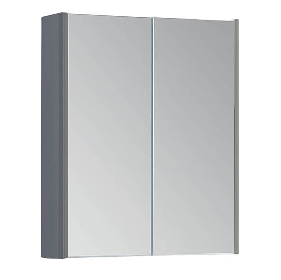 FUR297OP Kartell Options 500mm Mirror Cabinet - Basalt Grey