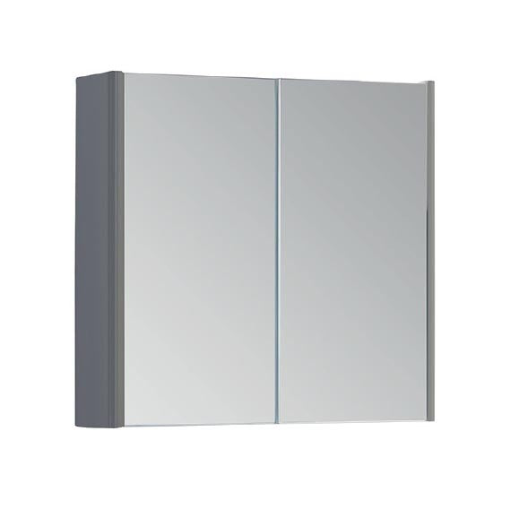FUR301OP Kartell Options 800mm Mirror Cabinet - Basalt Grey