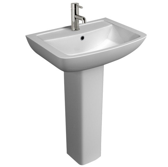 Kartell Pure Basin and Full Pedestal