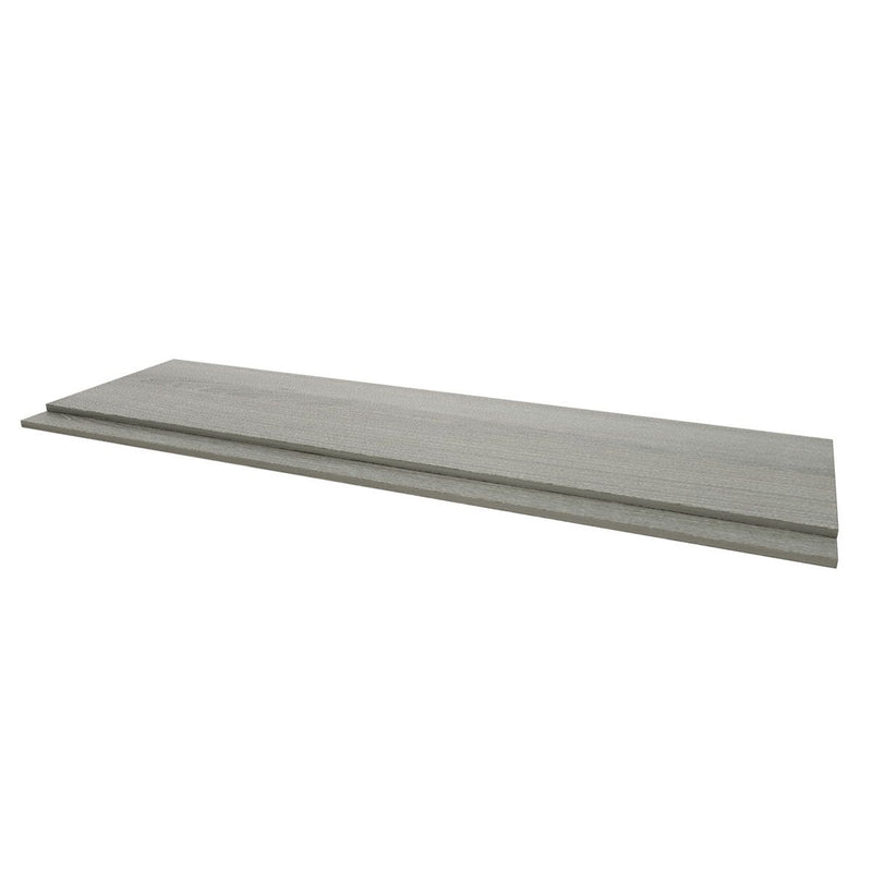 Purity Grey Ash Wooden Straight Bath Panels