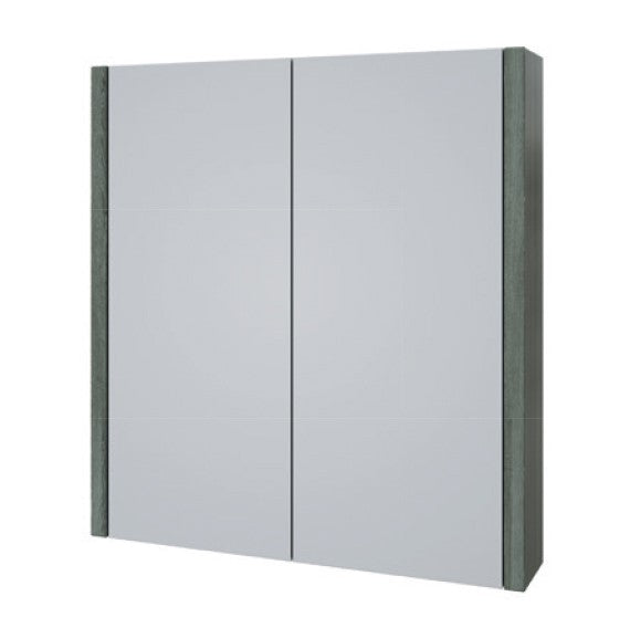 FUR113PU Grey Ash Purity 600mm Mirror Cabinet