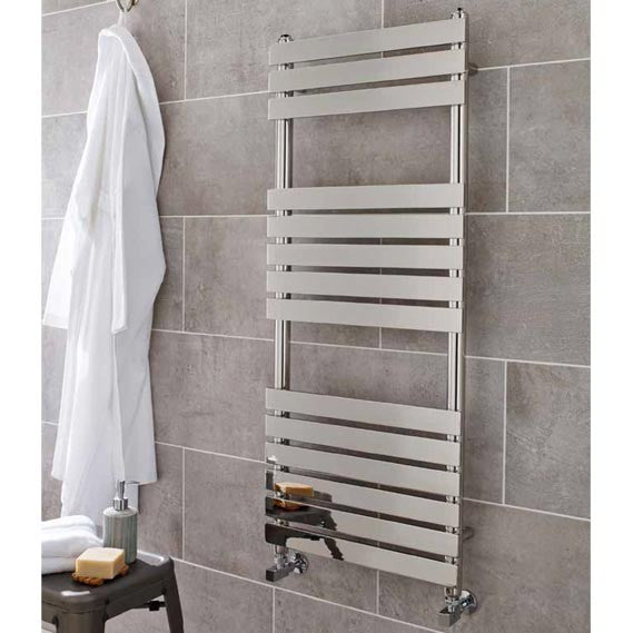 MEM500-1200 Kartell Memphis 500 Heated Towel Rail White 500 x 1200mm