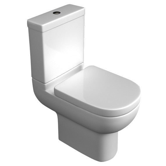 Kartell Studio Close Coupled Toilet with Soft Close Seat