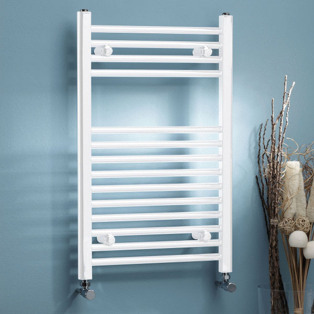 White Towel Rail 500 x 800mm Straight/Curved