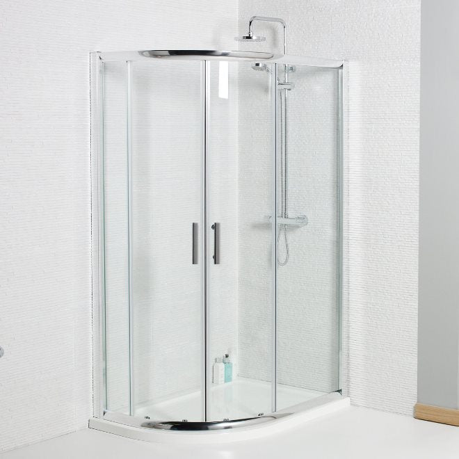 Koncept Double Door Offset Quadrant Enclosure 6mm Glass Choice of Sizes