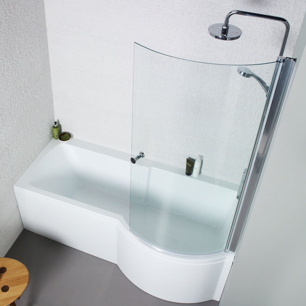 P Shape Bath Screen