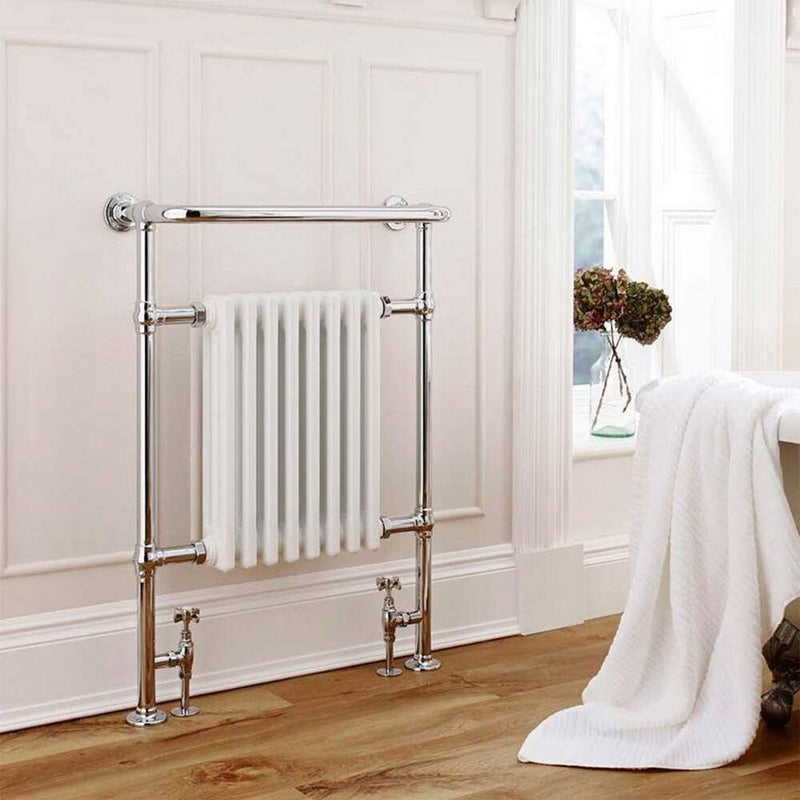 Crown Traditional Heated Towel Rail Radiator 675 x 945mm