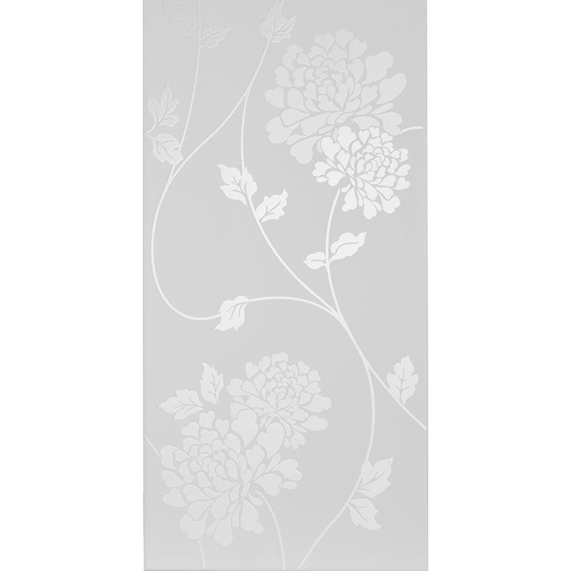 Isodore Floral Field Satin Ceramic Tiles, Box of 8