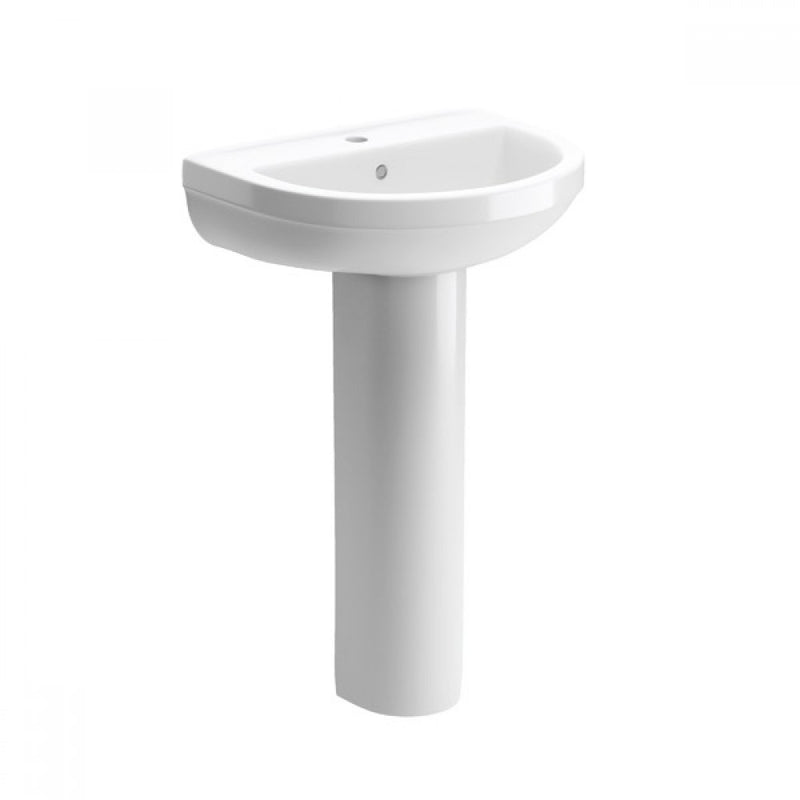 Laurus 500mm Basin and Full Pedestal