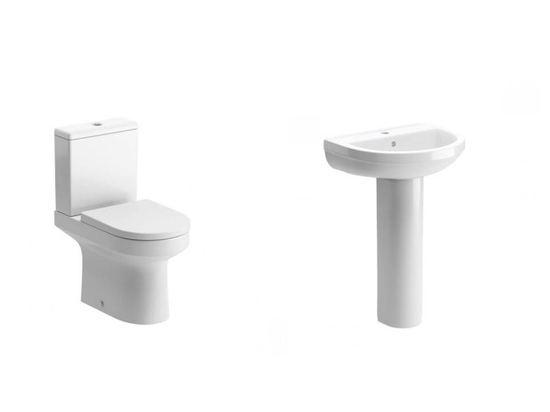 Laurus Suite, Close Coupled Toilet, Basin and Full Pedestal