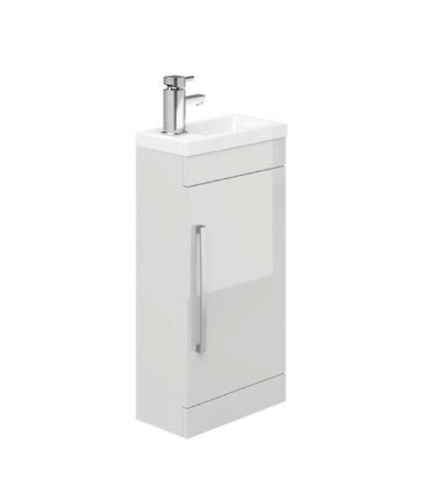 Manor Light Grey Cloakroom Vanity Unit and Ceramic Basin