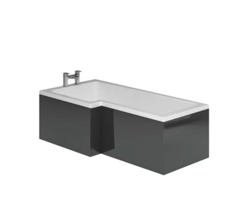 Manor Metallic Grey L Shape Shower Bath Panels