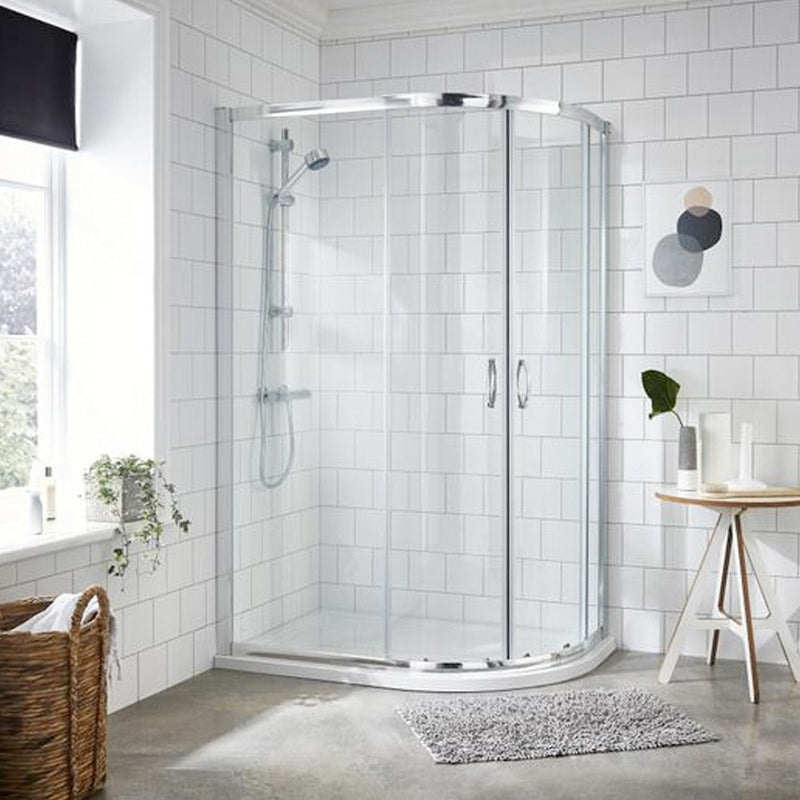 Matrix 1200 x 900 Offset Quadrant Shower Enclosure 6mm Glass Easy Fit
