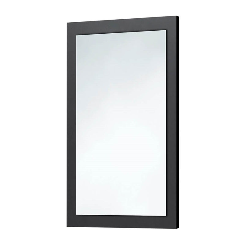 Matt Grey Wooden Frame Mirror 600 x 900mm