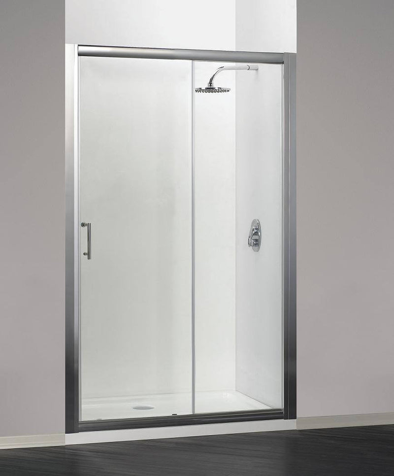 Mere Alba 1600mm Sliding Shower Door in 6mm toughened easy clean glass