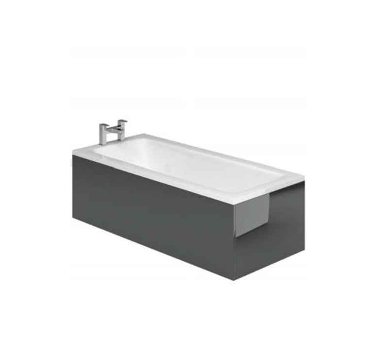 Manor Metallic Grey Bath Front Panel 1700mm 1800mm