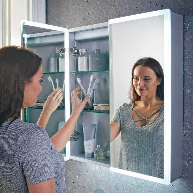 Mia LED Mirror Cabinet 700 x 800mm