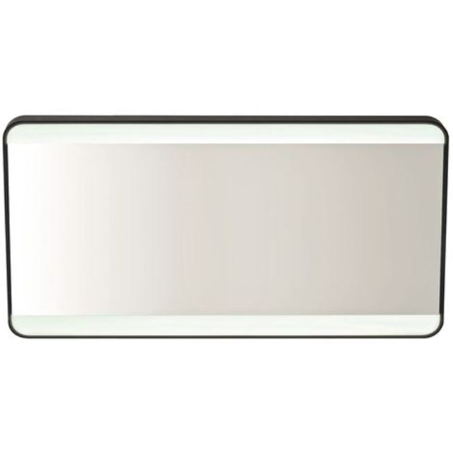 Mono Black LED Mirror 1200 x 600mm with Demister, Colour Changing