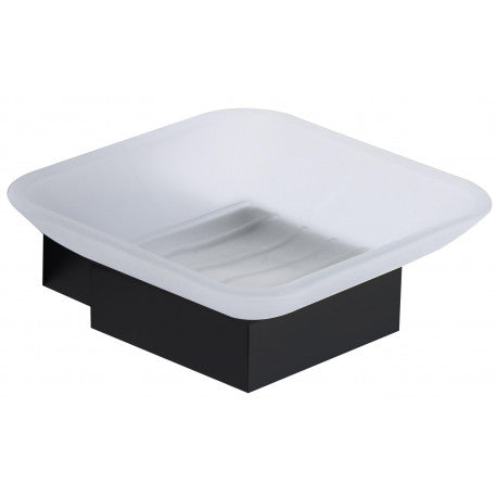 Mono Soap Dish and Holder Matt Black