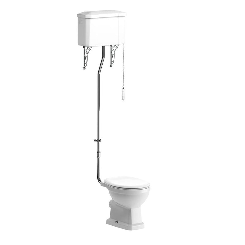 Sherbourne High Level Pan, Cistern And Fittings And Soft Close Seat