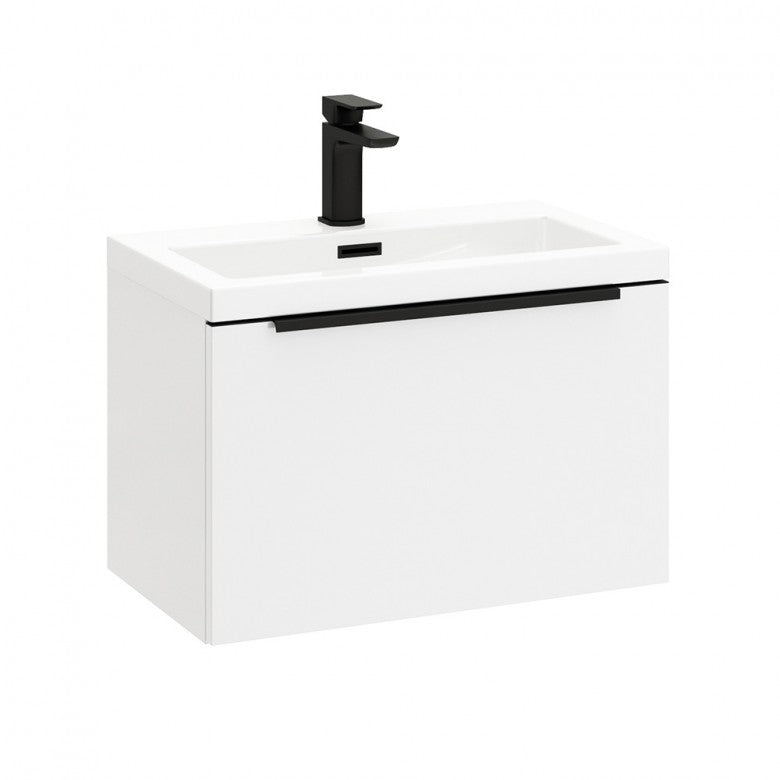 Muro Mono 500 Wall Hung Vanity Unit And Basin Gloss White