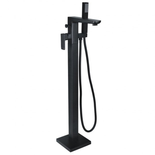 Muro Freestanding Bath Shower Mixer Tap Black
