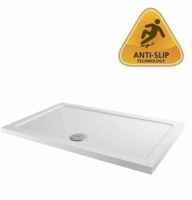 40mm MX Anti-Slip Low Profile Rectangular Shower Trays with Fast Flow Waste