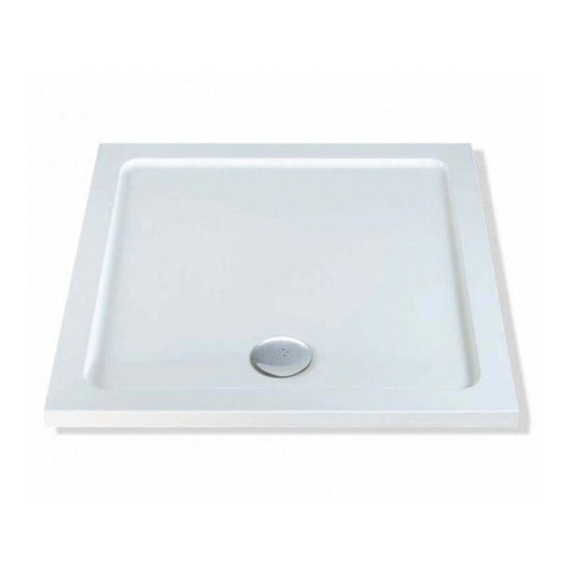 40mm MX Low Profile Square Shower Trays with Fast Flow Waste