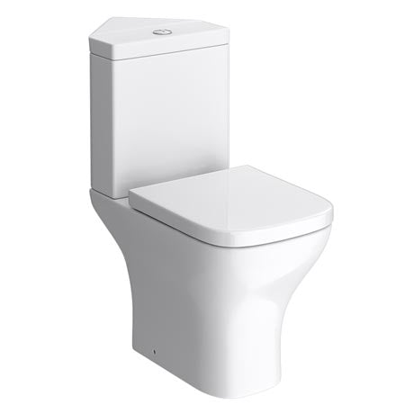 Project Square Corner Close Coupled Toilet with Soft Close Seat