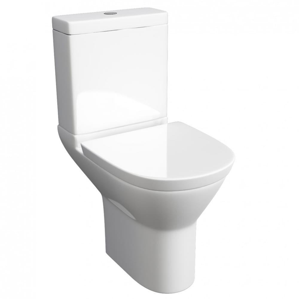 Project Round Close Coupled Toilet with Soft Close Seat