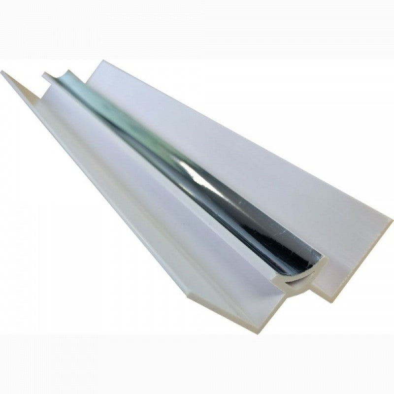 Chrome ABS Internal Corner Trim for 10mm PVC Wall Panels