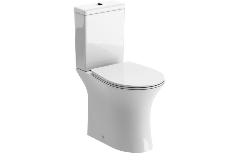 Sandro Rimless Close Coupled Toilet with Soft Close Seat
