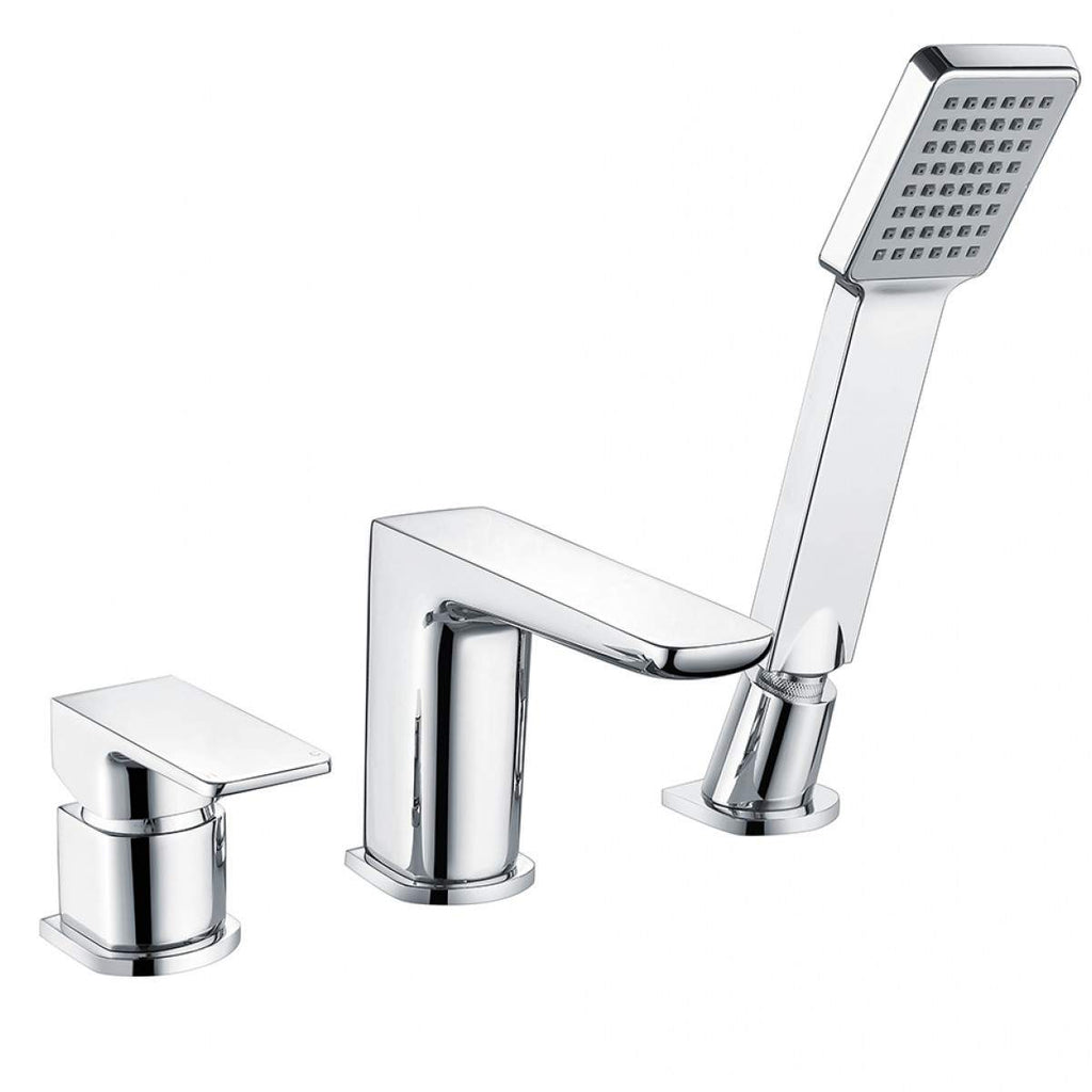 Muro 3 Hole Bath Mixer Chrome