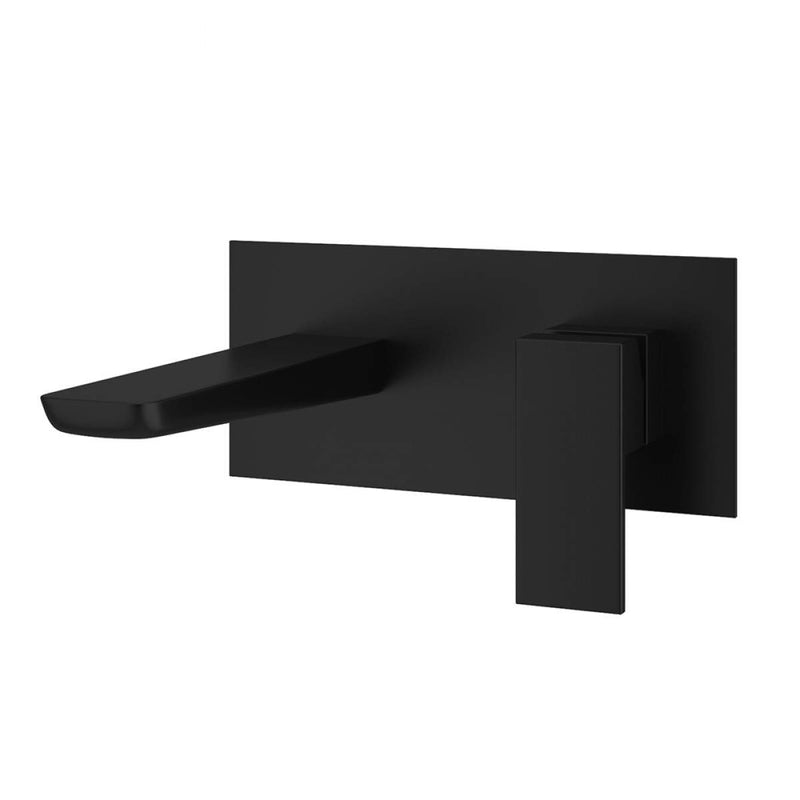 Muro Wall Mounted Basin Mixer Black