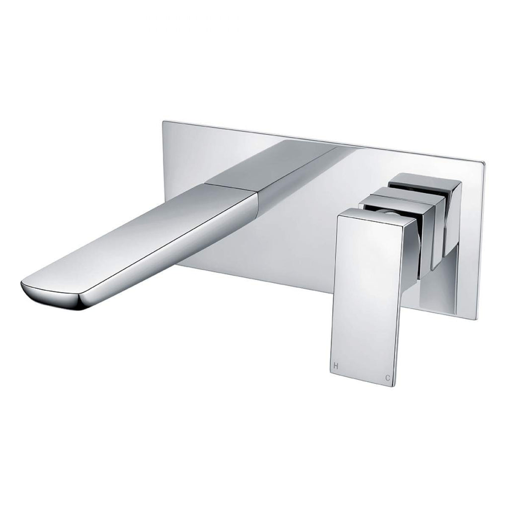 Muro Wall Mounted Basin Mixer Chrome