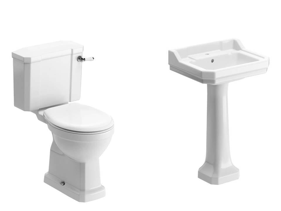 Sherbourne Suite, Close Coupled Toilet, Basin and Full Pedestal
