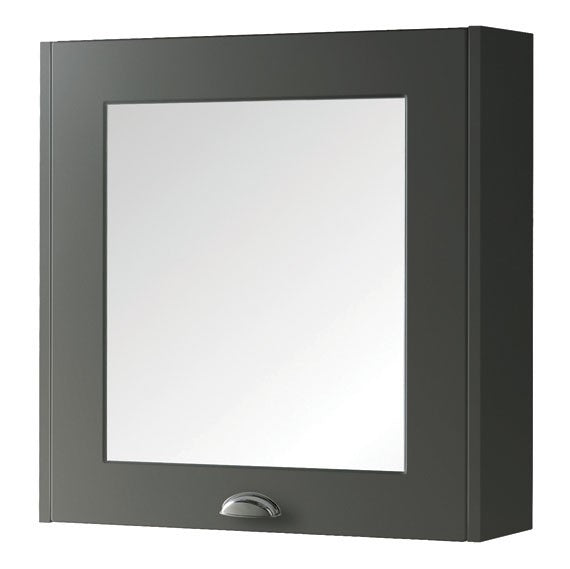 FUR524AS Kartell Astley 600mm Mirror Cabinet - Matt Grey