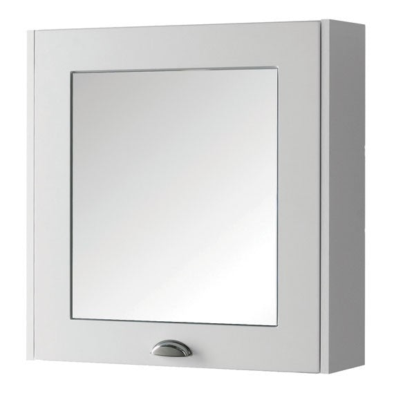 FUR504AS Kartell Astley 600mm Mirror Cabinet - Matt White