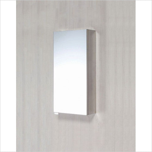 Stainless Steel Single Door Mirrored Bathroom Cabinet
