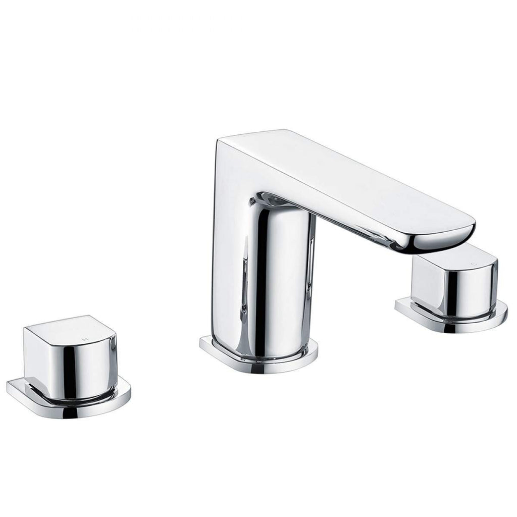 Muro 3 Hole Basin Mixer Chrome